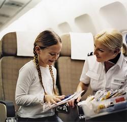 В самолете с ребенком